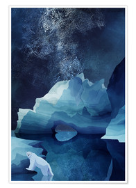 Premium poster Polar bear at night