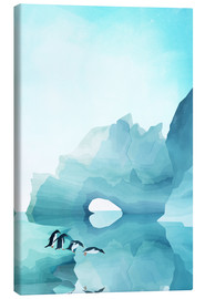 Canvas print  Penguins in the ice - Goed Blauw