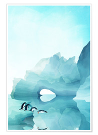 Premium poster Penguins in the ice