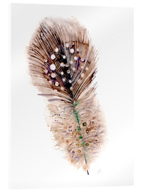 Acrylic print  Feather brown - Verbrugge Watercolor