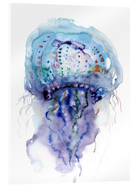 Verbrugge Watercolor - Jellyfish purple and blue