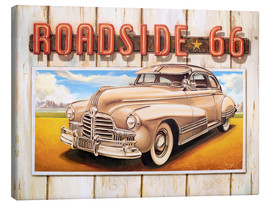 Canvas  Route 66 Roadside - Georg Huber