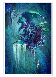 Premium poster  The Dragon's Waterfall - Anja Kostka