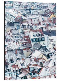 Aluminium print  Snowy rooftops in the old town of Heidelberg - Jan Christopher Becke