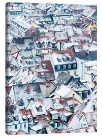 Canvas print  Snowy rooftops in the old town of Heidelberg - Jan Christopher Becke