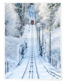 Premium poster  Historic mountain railway in Heidelberg, Baden-Wurttemberg, Germany - Jan Christopher Becke