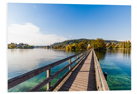 Foam board print  Bridge to the monastery Werd on Lake Constance in Switzerland - Dieterich Fotografie