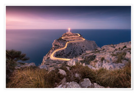 Premium poster Evening light at Cap Formentor (Mallorca / Spain)