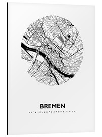 Alu-Dibond  City map of Bremen - 44spaces