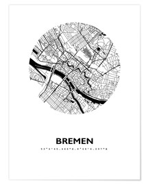Premium poster  City map of Bremen - 44spaces