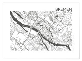 Premium poster City map of Bremen