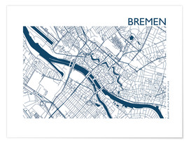 Poster City map of Bremen