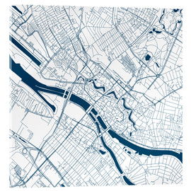 Acrylic glass  City map of Bremen - 44spaces