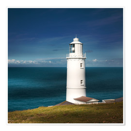 Premium poster  Lighthouse Trevose Head Cornwall - Sabine Wagner