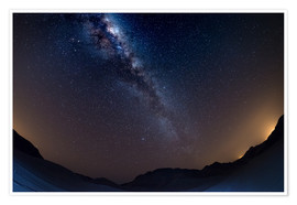 Premium poster The Milky Way Galaxy from the Namib desert, Namibia