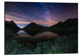 Aluminium print  The Milky Way Galaxy reflected on alpine lake - Fabio Lamanna