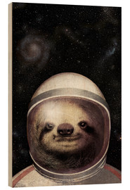 Wood print  Space Sloth - Eric Fan