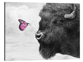 Aluminium print  Bison And Butterfly - Eric Fan