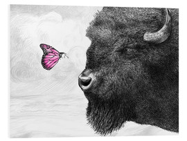 Foam board print  Bison And Butterfly - Eric Fan