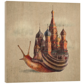 Wood print  The Snail's Daydream - Eric Fan