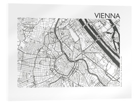 Acrylic glass  City map of Vienna - 44spaces