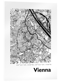 Acrylic print  City map of Vienna - 44spaces