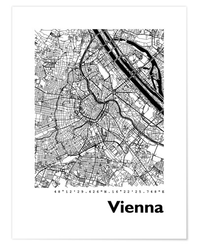 Premium poster City map of Vienna