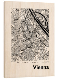Wood  City map of Vienna - 44spaces