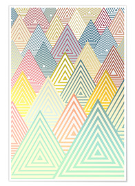 Premium poster Pastel Mountains