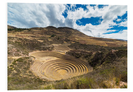 Foam board print  The archaeological site at Moray, travel destination in Cusco region and the Sacred Valley, Peru. - Fabio Lamanna