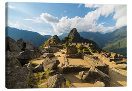 Canvas print  Light and clouds over Machu Picchu, Peru - Fabio Lamanna