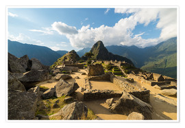 Premium poster Light and clouds over Machu Picchu, Peru