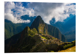 Foam board print  Light and clouds over Machu Picchu, Peru - Fabio Lamanna
