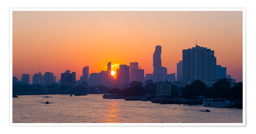 Premium poster Bangkok skyline at sunrise, Thailand