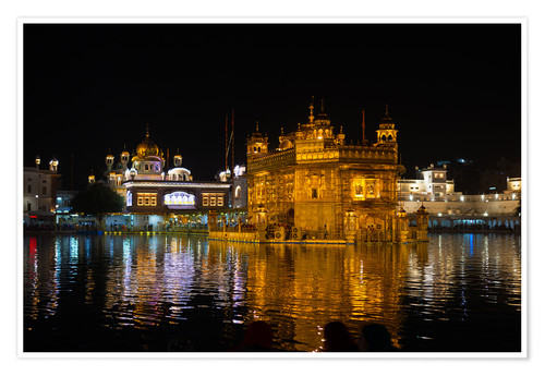 Premium poster The Golden Temple by night, Amritsar, India