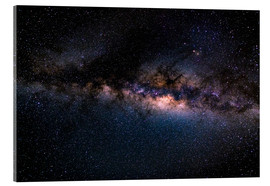 Acrylic print  The Milky Way galaxy, details of the colorful core. - Fabio Lamanna