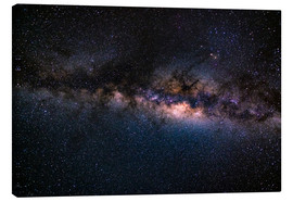 Canvas  The Milky Way galaxy, details of the colorful core. - Fabio Lamanna