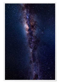 Poster  The Milky Way galaxy, details of the colorful core. - Fabio Lamanna