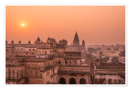 Premium poster Orchha city at sunset, India