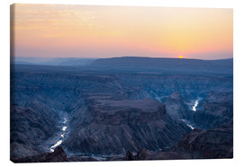 Canvas print  Fish River Canyon at sunset, travel destination in Namibia - Fabio Lamanna