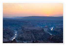 Premium poster Fish River Canyon at sunset, travel destination in Namibia