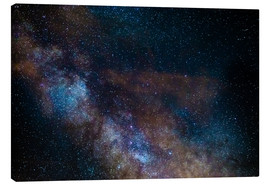 Canvas print  The Milky Way galaxy, details of the colorful core - Fabio Lamanna