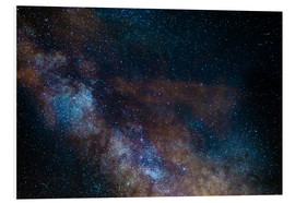 Foam board print  The Milky Way galaxy, details of the colorful core - Fabio Lamanna