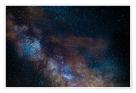 Premium poster The Milky Way galaxy, details of the colorful core