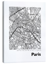 Canvas print  Map of Paris - 44spaces
