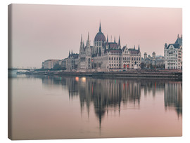 Canvas print  Colourful sunrises in Budapest - Mike Clegg Photography