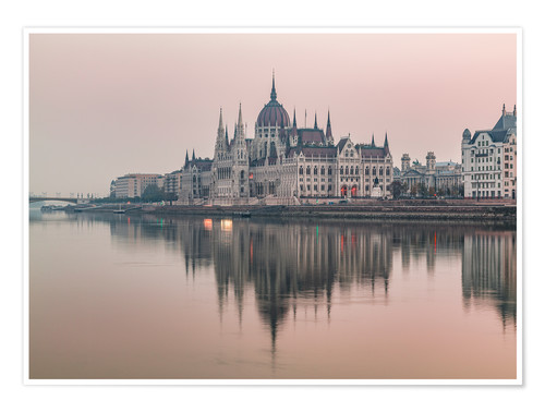 Premium poster Colourful sunrises in Budapest