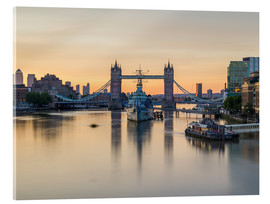 Acrylic glass  Colourful sunrises in London - Mike Clegg Photography