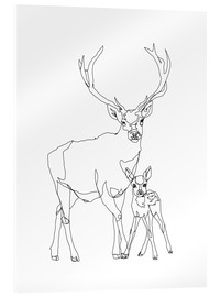 Acrylic print  Bambi & Stag - Sophie Schultz