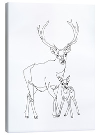 Canvas print  Bambi & Stag - Sophie Schultz